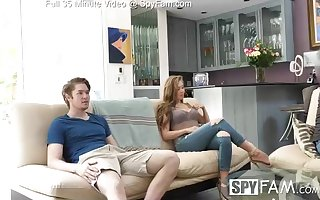 Lena Paul is constantly secretly porking her step- bro, while no 1 else is at home