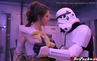 Stella Cox got her cooch plumbed in Starlet Wars porno parody